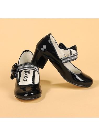 Kiko Kids Kiko 752 Rugan Günlük Kız Çocuk 4 Cm Topuk Babet Ayakkabı Siyah